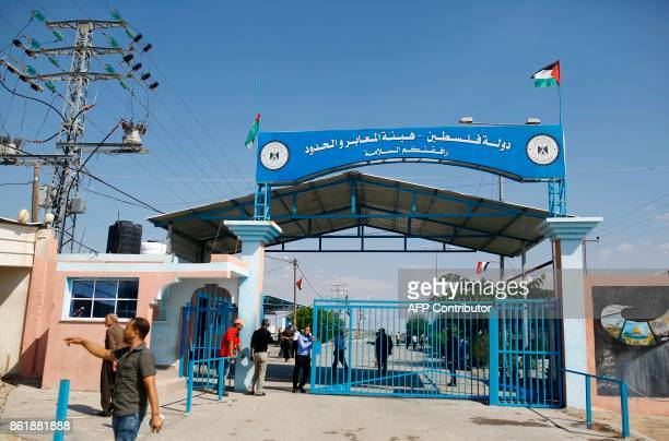 A general ciew taken on October 16 2017 shows the Erez border crossing in Beit Hanun in the northern Gaza Strip / AFP PHOTO / MOHAMMED ABED
