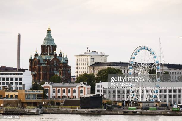 A general city view of Helsinki Finland taken on June 28 2018 US President Donald Trump and Russian President Vladimir Putin are to meet in Helsinki...