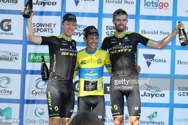 General classifications Cameron Meyer of Australia and the MitcheltonScott Team second place Esteban Chaves of Columbia and the MitcheltonScott Team...