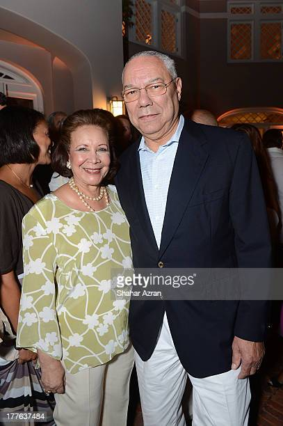 General Colin Powell and Alma Powell attend 4th Annual Apollo In The Hamptons Benefit on August 24 2013 in East Hampton New York