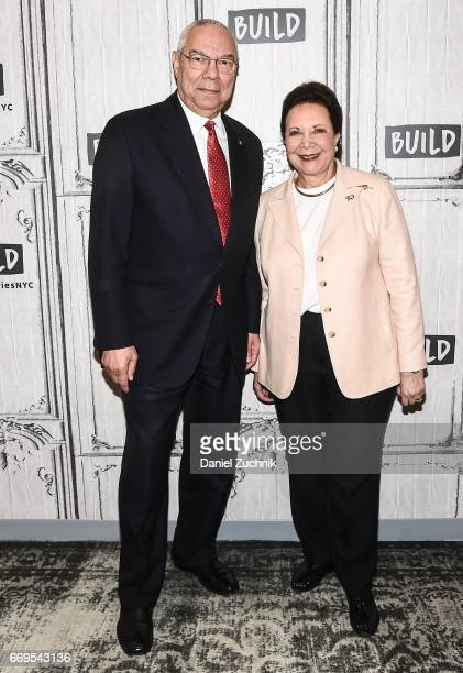 General Colin Powell and Alma Powell attend the Build Series to discuss their newest mission with America's Promise to 'Recommit 2 Kids' campaign at...