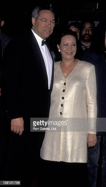 General Colin Powell and wife Alma Powell attend Essence Awards on May 12 1995 at Paramount Theater in New York City