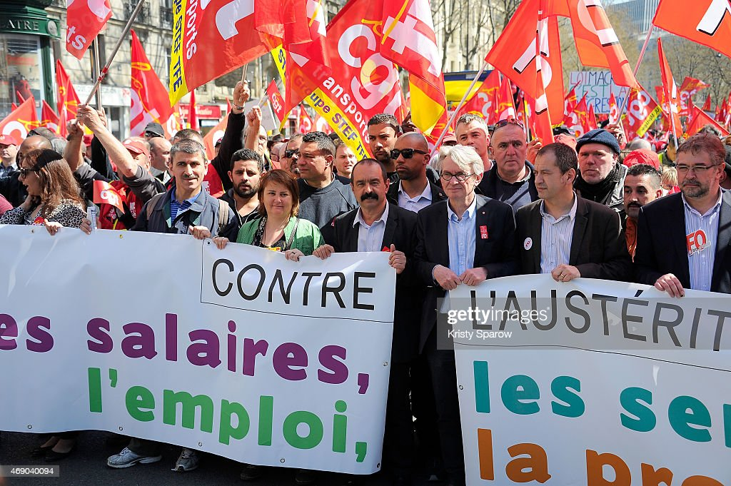 'Solidaires Contre L'Austerite' : Demonstration To Fight Against Austerity In Paris