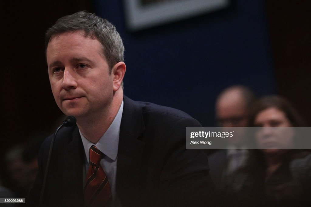 General Counsel for Twitter Sean Edgett testifies during a hearing before the House (Select) Intelligence Committee November 1, 2017 on Capitol Hill in Washington, DC. The committee held a hearing on 'Russia Investigative Task Force: Social Media Companies.'