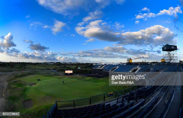 General course view of the 14th hole at sunset during the first round of The Open Championship at Royal Birkdale on July 20 2017 in Southport England