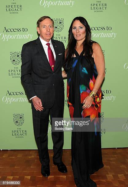 General David Petraeus and Dr Kelly Posner Gerstenhaber attend the 2nd Annual Speyer Legacy School Access To Opportunity Initiative Benefit at...