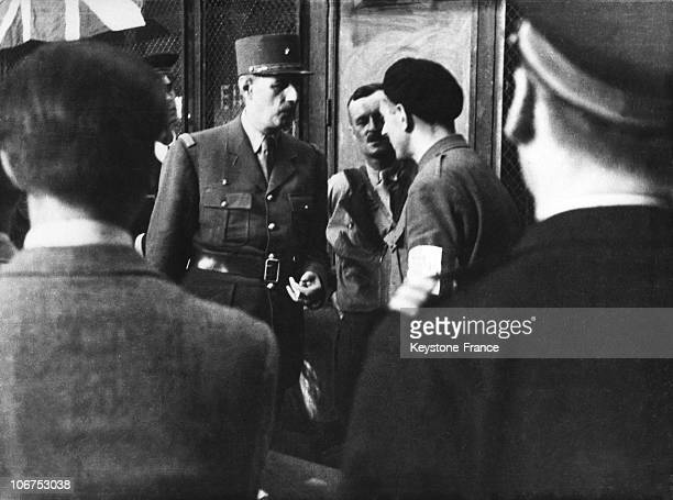 General De Gaule During The Liberation Of Paris On August 25Th 1944