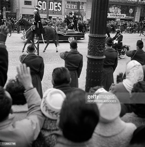 General de Gaulle and Georges Pompidou the day de Gaulle takes office as President of French Council In Paris France On June 01 1958Parade on the...