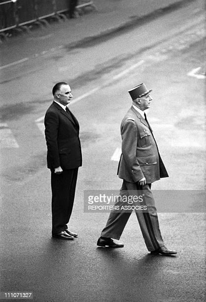 General de Gaulle Georges Pompidou in France on October 15 1962