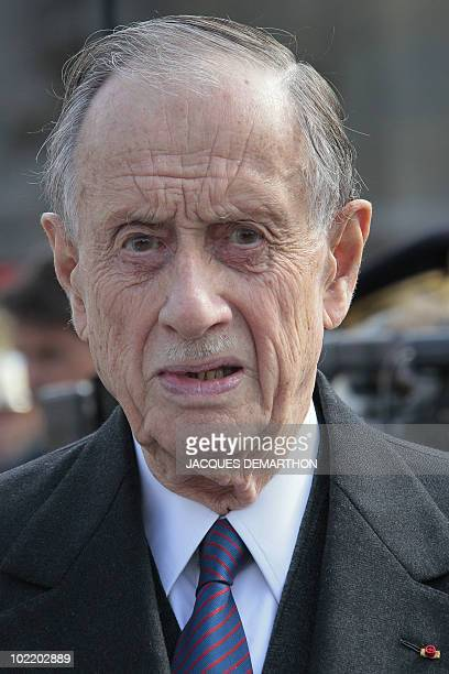 General de Gaulle' son Philippe de Gaulle attends a ceremony on June 18 2010 in Paris as part of the celebration of the 70th anniversary of Charles...