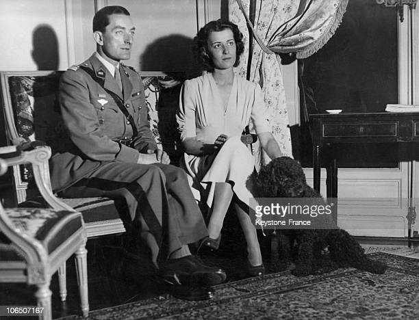 General De Gaulle'S Daughter Becomes Engaged With Captain De Boissieu Squadrons Chief And Attached To Military Staff Of His FatherInLaw