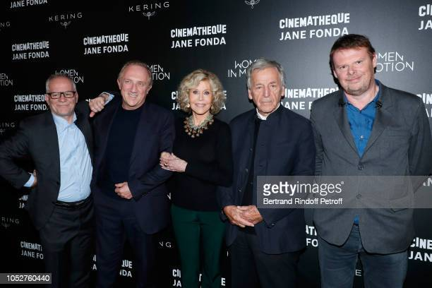 General Delegate of the Cannes Film Festival Thierry Fremaux, CEO of Kering Group, Francois-Henri Pinault, Actress Jane Fonda, President of...