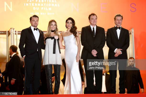 General Delegate Thierry Fremaux Leonardo DiCaprio Margot Robbie Daniela Tarantino Quentin Tarantino and Brad Pitt depart the screening of Once Upon...