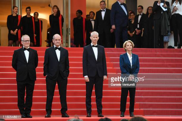 General Delegate Thierry Fremaux President of the Cannes Film Festival Pierre Lescure French Minister of Culture Franck Riester and Frederique Bredin...