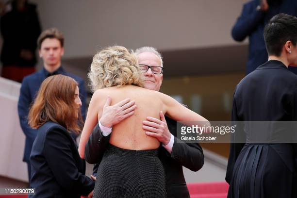 General Delegate Thierry Fremaux welcomes Valeria Golino to the screening of Portrait Of A Lady On Fire during the 72nd annual Cannes Film Festival...
