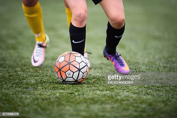 General detail of a football being kicked during the match between Canterbury Pride and Capital Football at English Park on November 13 2016 in...