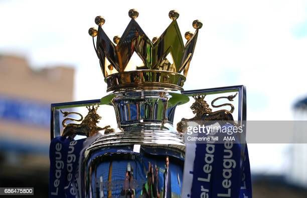 General detail view of The Premier League trophy before the Premier League match between Chelsea and Sunderland at Stamford Bridge on May 21, 2017 in...