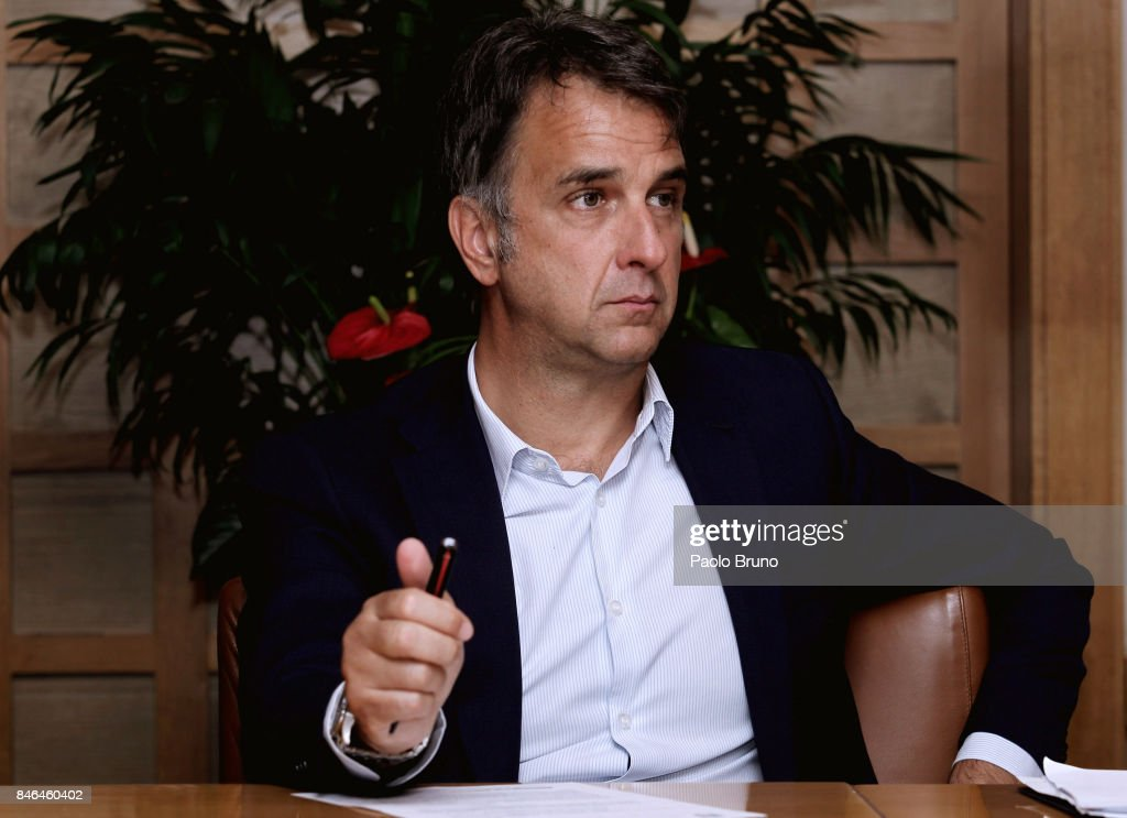 General Director Michele Uva attends the press conference after the Italian Football Federation (FIGC) federal council meeting on September 13, 2017 in Rome, Italy.