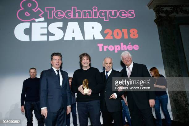 General Director of AUDIENS Patrick Bezier Gilles Gaillard who receives the 'Cesar et Techniques 2018' Award for his Company 'Mikros Image...