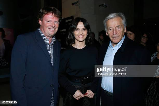 General Director of Cinematheque Francaise Frederic Bonnaud actress of the movie Juliette Binoche and President of Cinematheque Francaise Constantin...