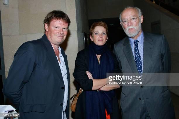 General Director of Cinematheque Frederic Bonnaud Ariane Toscan du Plantier and CEO of Cinema Gaumont Nicolas Seydoux attend the Barbara Paris...