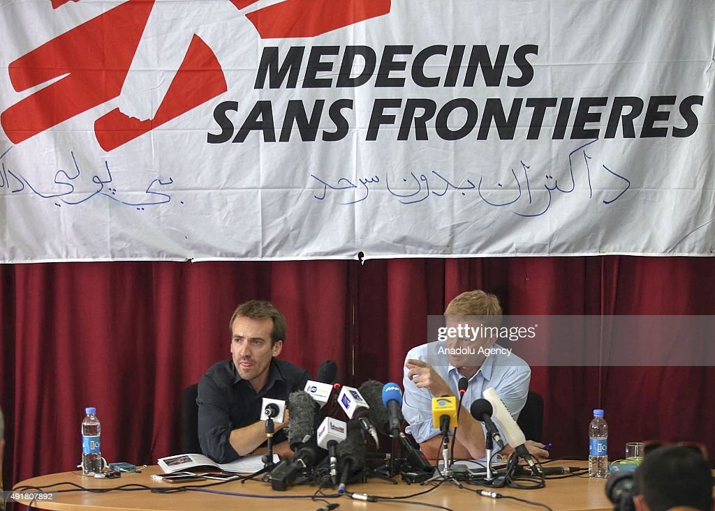 Press conference over the airstrike on Kunduz hospital : News Photo