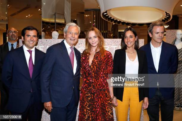 General Director of Galeries Lafayette Nicolas Houze Chairman of the Board of Galeries Lafayette Group Philippe Houze Stylist Stella McCartney...