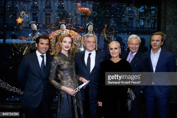 General Director of Galeries Lafayette Nicolas Houze Natalia Vodianova CEO of Dior Sidney Toledano Stylist of Dior Maria Grazia Chiuri Chairman of...