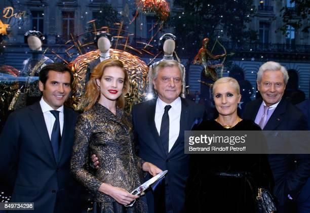 General Director of Galeries Lafayette Nicolas Houze Natalia Vodianova CEO of Dior Sidney Toledano Stylist of Dior Maria Grazia Chiuri and Chairman...