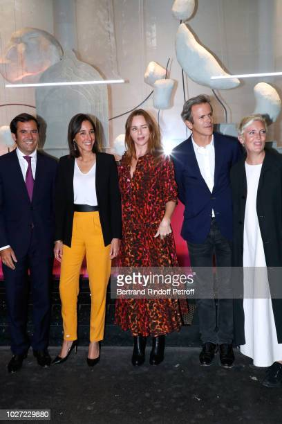 General Director of Galeries Lafayette Nicolas Houze Secretary of State to the Minister of the Ecological and Solidarity Transition Brune Poirson...