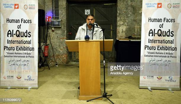 General Director of Islamic Cooperation Youth Forum Eurasian Regional Office Elmaddin Mehdiyev delivers a speech at 'Human Faces of AlQuds'...