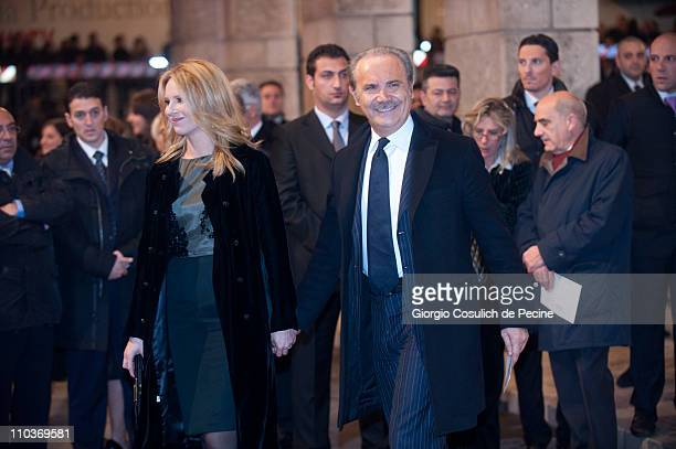 General Director of Italian TV broadcast RAI Mauro Masi arrives at the Teatro dell'Opera to attend the Giuseppe Verdi's Nabucco directed by Riccardo...