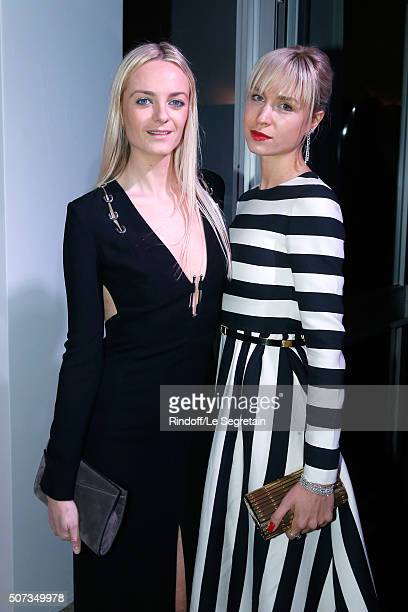 General Director of Mugler Virginie CourtinClarins and AnneSophie Mignaux attend the Sidaction Gala Dinner 2016 as part of Paris Fashion Week Held at...