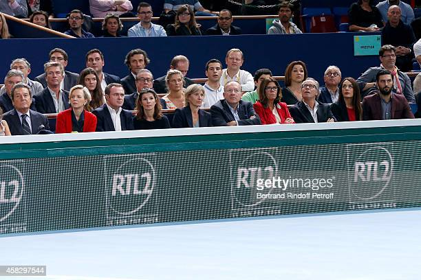 General Director of Rolex France Philippe Schaeffer guest guest President of Medef Pierre Gattaz and his wife Michel Leeb and his wife Beatrice...