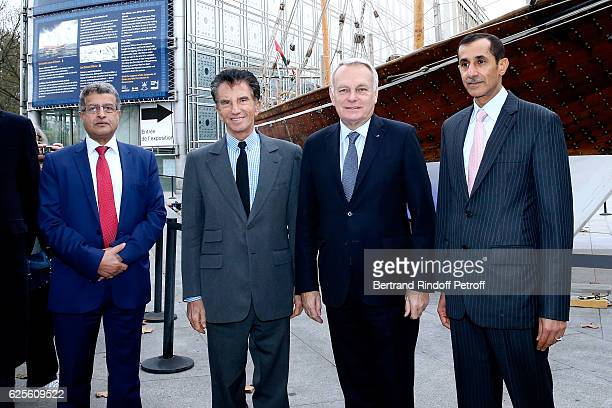 General Director of the 'Institut du Monde Arabe' Mojeb Al-Zahrani, President of the 'Institut du Monde Arabe' Jack Lang, Minister of Foreign Affairs...