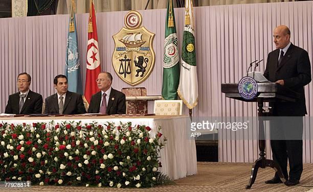General Director of the Islamic Educational, Scientific and Cultural Organization -ISESCO-, Saudi Abdulaziz Othman delivers his speech as United...