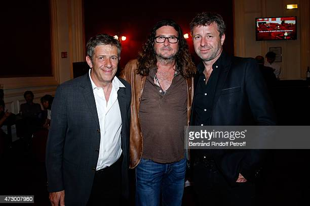 General Director of the Theatre de Paris Stephane Hillel CEO Ventes Privees JacquesAntoine Granjon and President of the Theatre de Paris Richard...