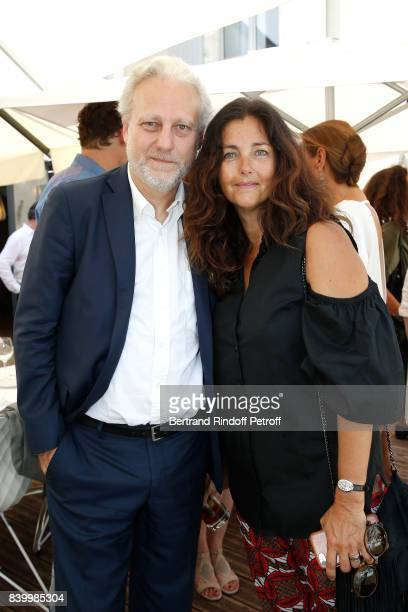 General Director of TV5 Monde Yves Bigot and actress Cristiana Reali attend the 10th Angouleme FrenchSpeaking Film Festival Closing Ceremony on...