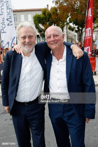 General Director of TV5 Monde Yves Bigot and Editorinchief of TV5 Monde Patrick Simonin attend the 10th Angouleme FrenchSpeaking Film Festival...