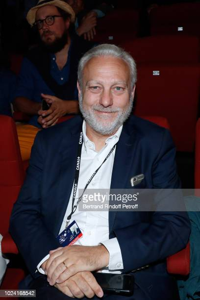 General Director of TV5 Monde Yves Bigot attends the Closing Ceremony of the 11th Angouleme FrenchSpeaking Film Festival on August 26 2018 in...