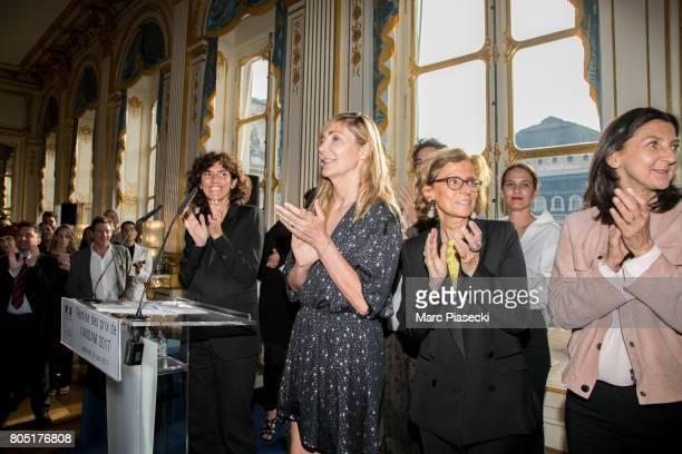 General Director of 'Yves Saint Laurent' Francesca Bellettini and Nathalie Dufour attend the 'ANDAM 2017' Prizewinner cocktail at Ministere de la...