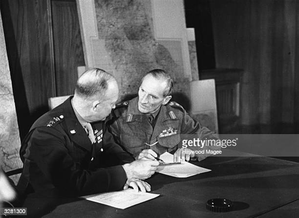 General Dwight D Eisenhower Supreme Commander of the Allied Forces and Field Marshal Bernard L Montgomery February 19 1944 Eisenhower was later...