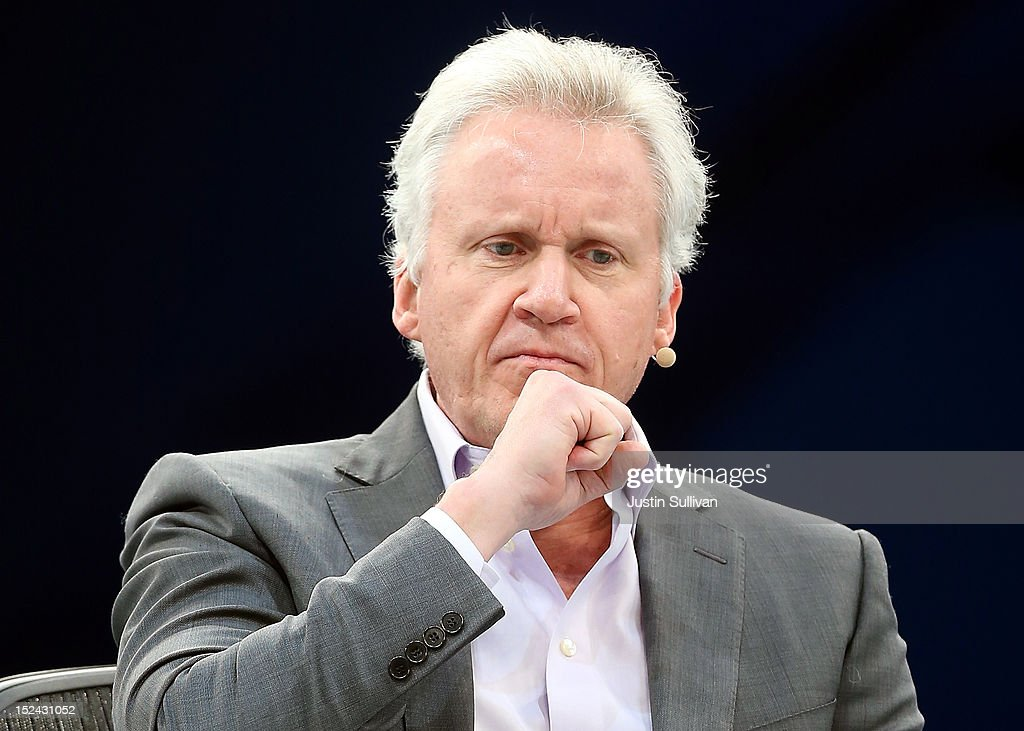 General Electric CEO Jeff Immelt pauses as he speaks during a panel discussion during the Dreamforce 2012 conference at the Moscone Center on September 20, 2012 in San Francisco, California. A reported 90,000 people registered to attend the cloud computing industry conference Dreamforce 2012 that runs through September 21.