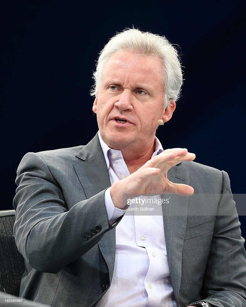 General Electric CEO Jeff Immelt speaks during a panel discussion during the Dreamforce 2012 conference at the Moscone Center on September 20, 2012 in San Francisco, California. A reported 90,000 people registered to attend the cloud computing industry conference Dreamforce 2012 that runs through September 21.