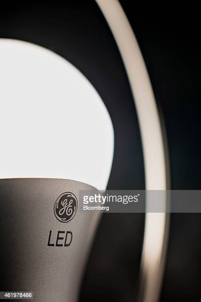 A General Electric Co LED light bulb is displayed for a photograph in Tiskilwa Illinois US on Thursday Jan 22 2015 General Electric Co is scheduled...