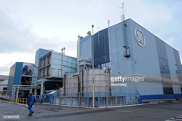 General Electric Co.'s gas turbine factory stands in Belfort, France, on Tuesday, Dec. 14, 2010. General Electric Co. Said sales may increase as much...