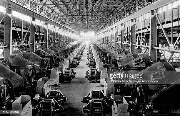 64 General Electric induction motors with 40 hp 500 rpm and 440 volts inside the regrinding plant at the Calumet and Helca Consolidated Mining Company