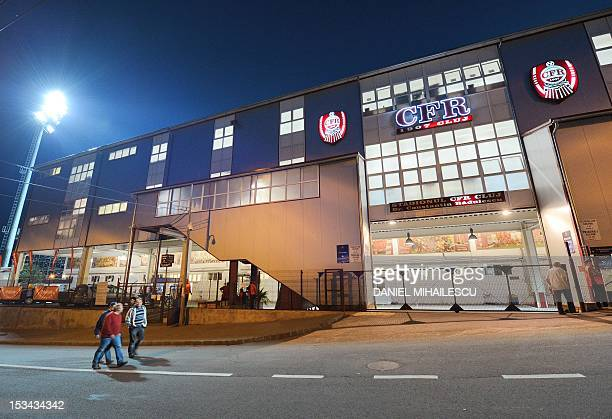 General exterior view of CFR Cluj stadium DrConstantin Radulescu prior to the UEFA Champions League football match between CFR Cluj and Manchester...