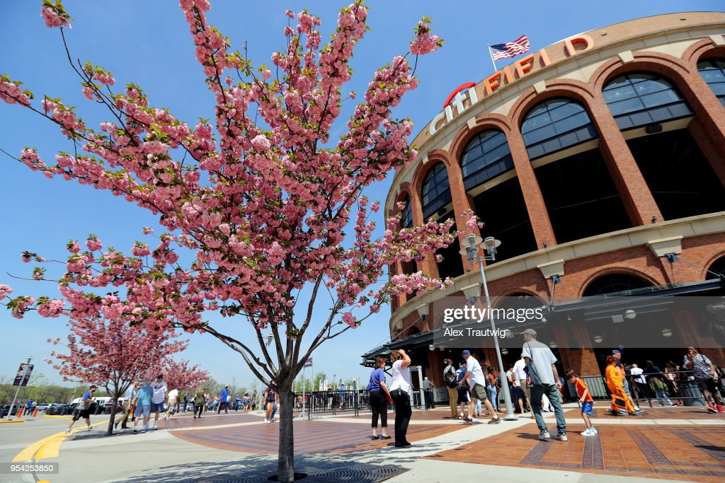 A general exterior view of Citi Field prior to the game between the New York Mets and the Atlanta Braves on Thursday, May 3, 2018 in the Queens borough of New York City.