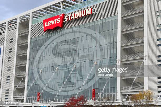 General exterior view of Levi's Stadium during the Pac-12 Championship football game between the Oregon Ducks and the Utah Utes at Levi's Stadium on...